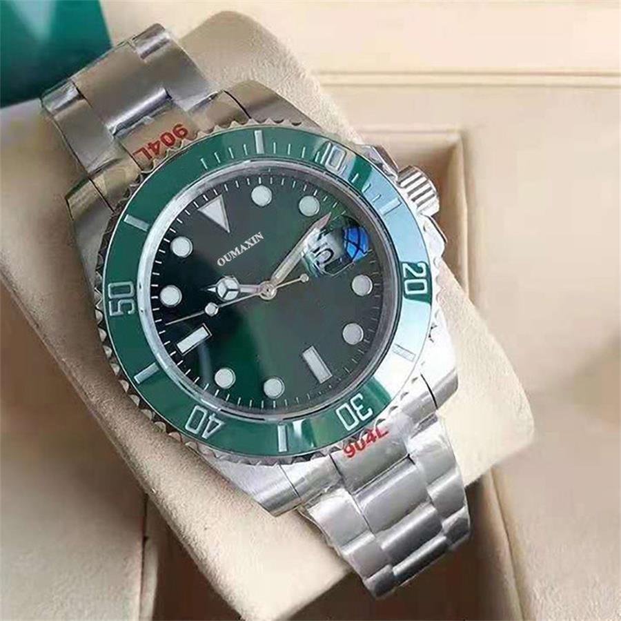 men's watch automatic Miyota8215 mechanical sapphire glass black dial men's clock 316L stainless ste
