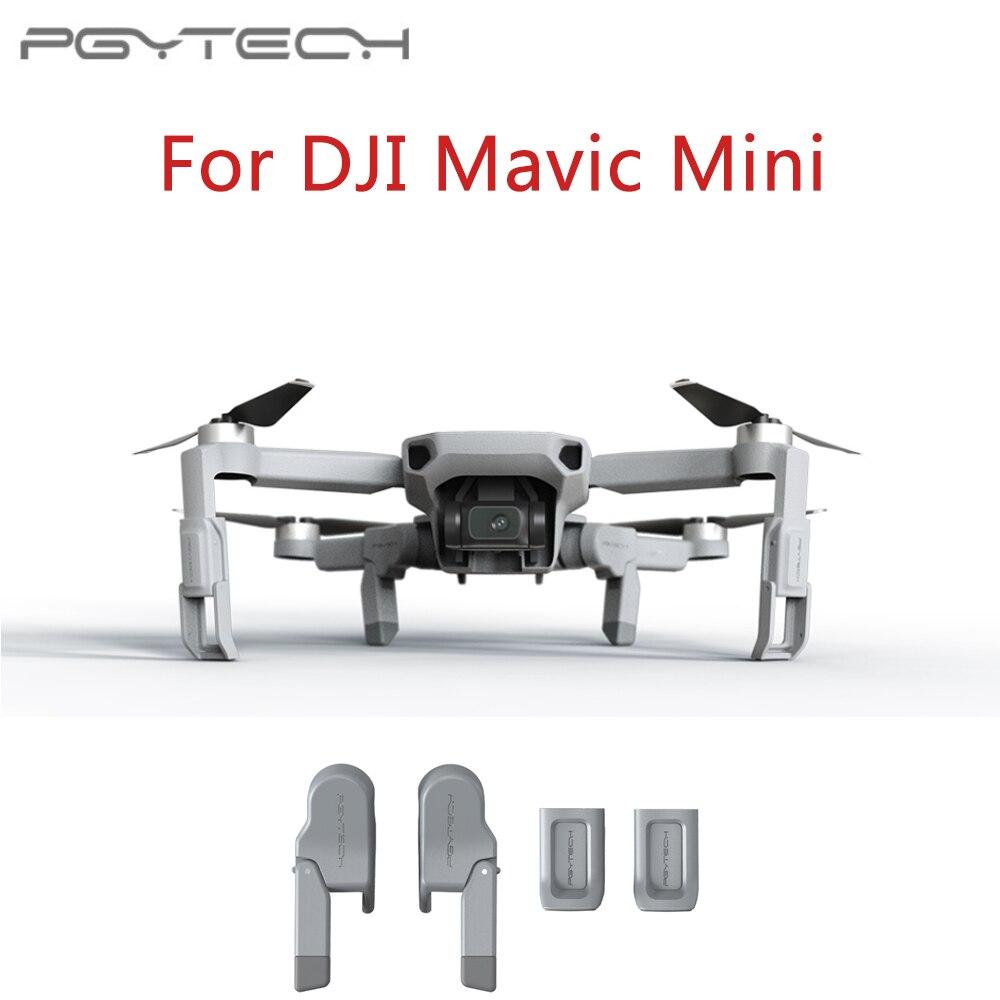 PGYTECH aterrizaje pierna extensiones para DJI Mavic Mini Skid mayor amortiguador estabilizadores pierna Accesorios