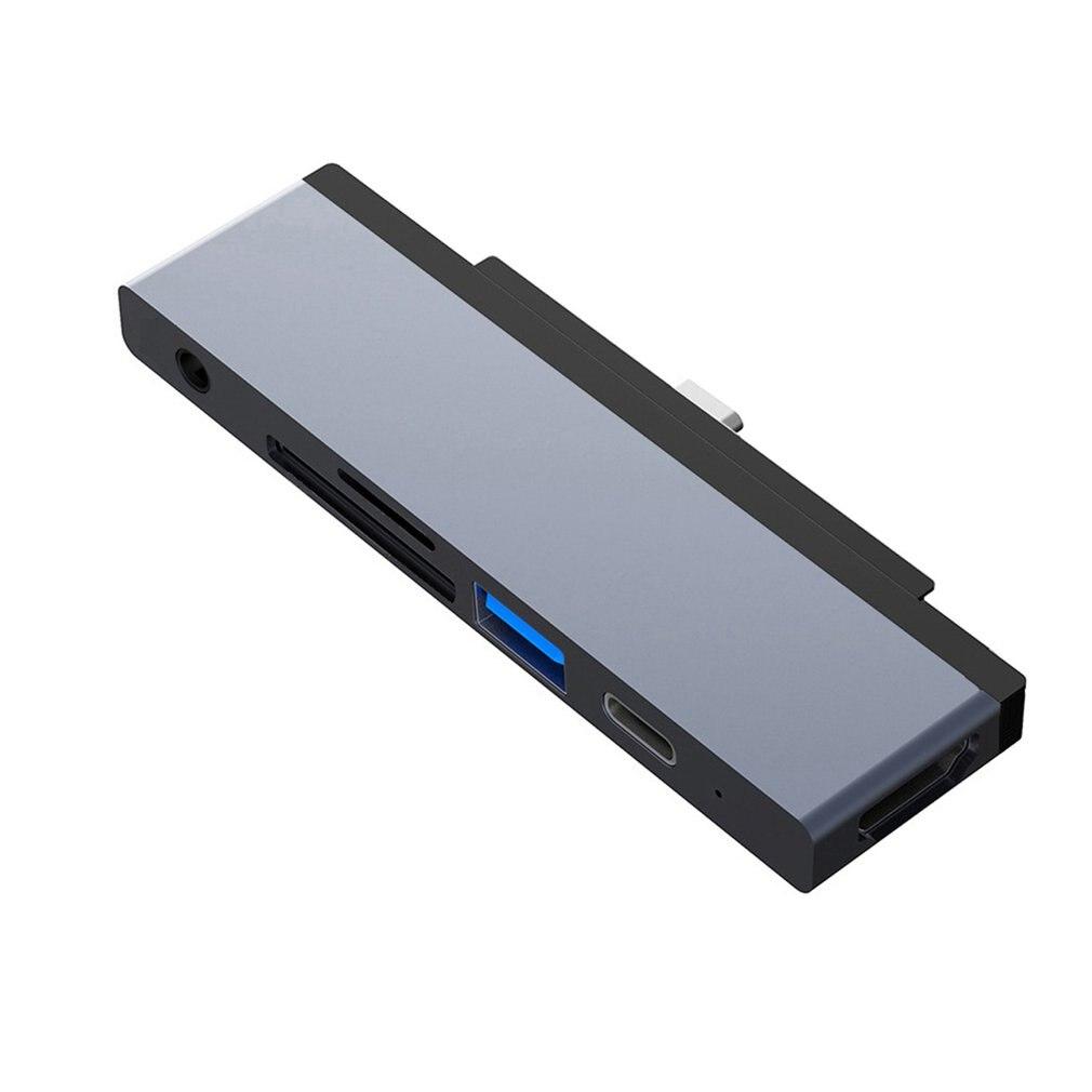 Type-C إلى HDMI-متوافق 6 في 1 محور محول شاحن السفر محول الطاقة المقبس حريق البلاستيك دائم محور لباد برو