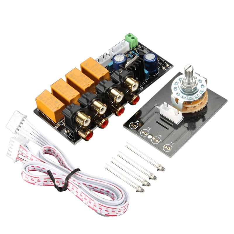 Placa de Amplificador de Comutação de Sinal Placa de Relé Seletor de Sinal de Entrada de Áudio Rca para Alto-falantes
