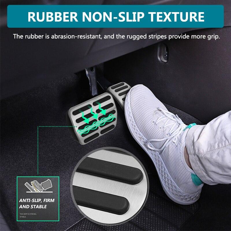 Car Styling Accelerator Brake Footrest Pedal Sticker Pad FOR Audi TT A1 A2 A3 VW Golf 4 Polo GTI SKODA Octavia SEAT Autoshift m
