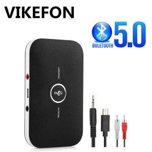 Image 1 - Bluetooth 5,0 передатчик и приемник 2 в 1 RCA 3,5 мм 3,5 Aux разъем стерео музыка аудио беспроводной адаптер для автомобиля ТВ ПК наушников