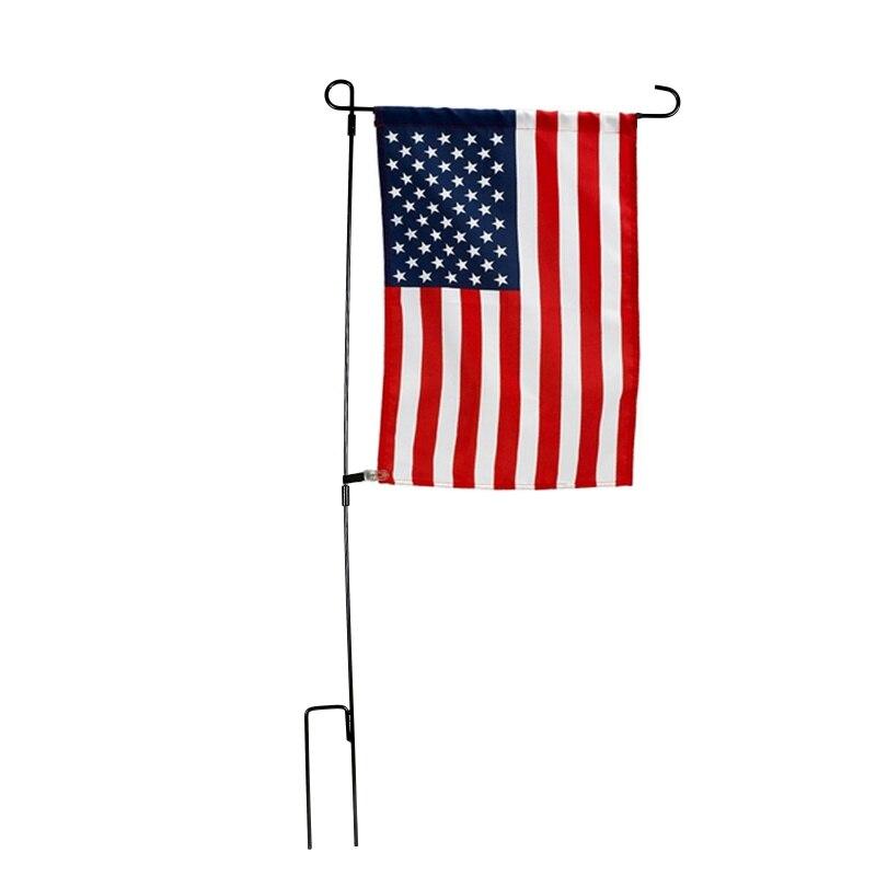 "37x18 ""quintal jardim bandeira pólo suporte da bandeira para banners acessórios bandeira do jardim flagpole ferro forjado pequena bandeira estande decor2"
