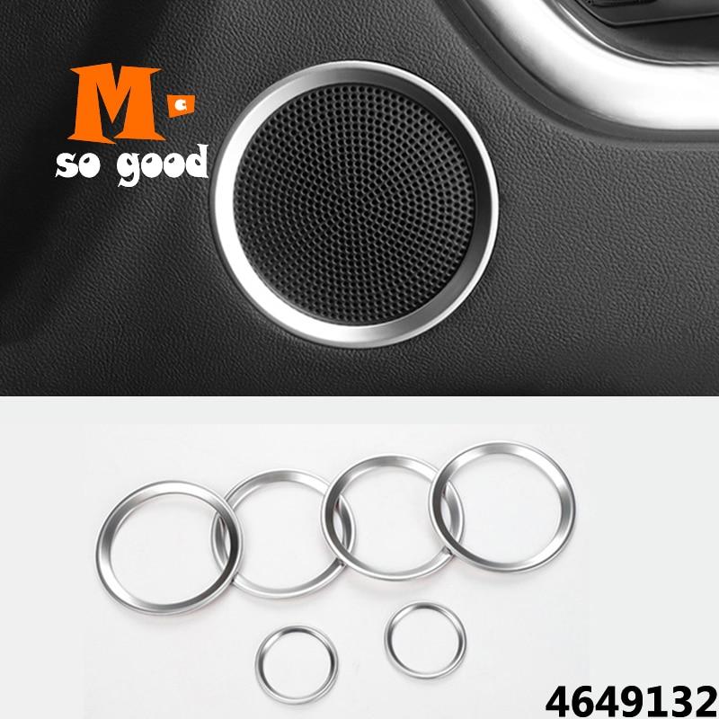 ABS mate para Land Rover Discovery Sport 2016 2017 2018 cubierta de altavoz de Audio de puerta molduras de marcos de anillo circular decorativo estilo de coche
