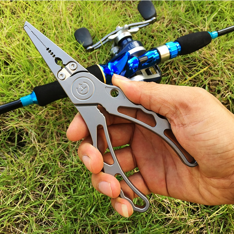 fishing Use Scissors Multifunctional Stainless Steel Lure Clamp Fishing Pliers Line Cutter Hook Fishing Tackle Tools Portable enlarge