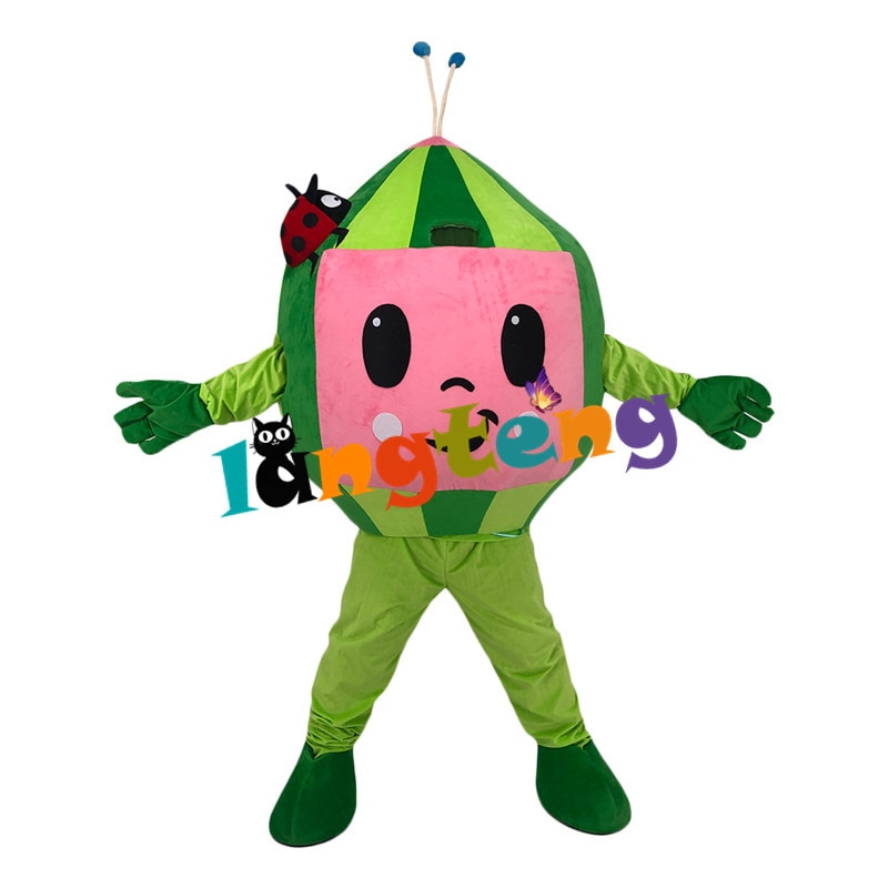 1167 Cocomelon البطيخ الصبي الكرتون فستان بتصميم حالم زي التميمة لقضاء عطلة