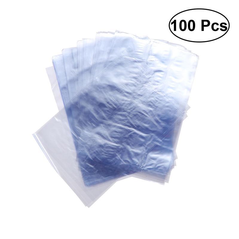 100 шт ПВХ термоусадочные пакеты для мыла бутылки для ванной бомбы Упаковка подарочные корзины (10x15 см)