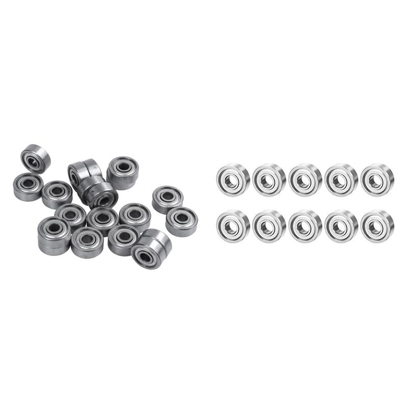 20 Pcs 624ZZ 4mm x 13mm x 5mm Carbon Steel Shielded Radial Ball Bearings Deep Groove Ball Bearings & 10 Bearing 604ZZ 4X12 Shiel