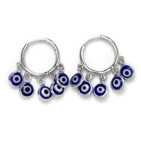 european and american devil eyes earrings blue eye earrings 2021 trend new earring for women woman long hanging gold hoop teens