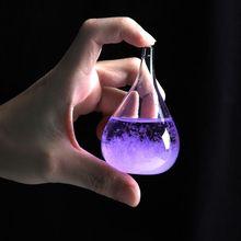 Baromètre Transparent gouttelette bouteilles verre   De tempête, goutte deau, prévision de tempête, bouteille, fournitures de décoration pour maison bureau