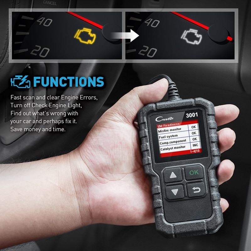 Code Reader cr3001 X431 3001 Auto Scan Tool Auto Scan Tool Code Reading Card Code Reader Multi Language