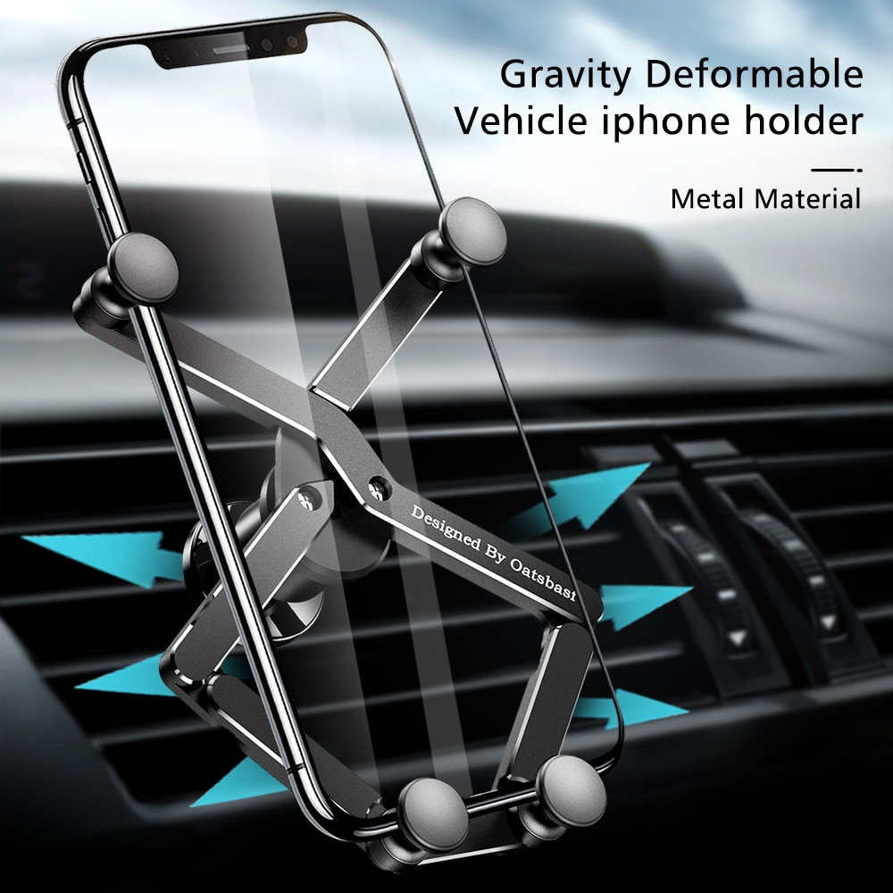 Non-magnetic Mobile Phone Holder for IPhone 11 GPS Car Accessories Gravity Mobile Phone Holder for C