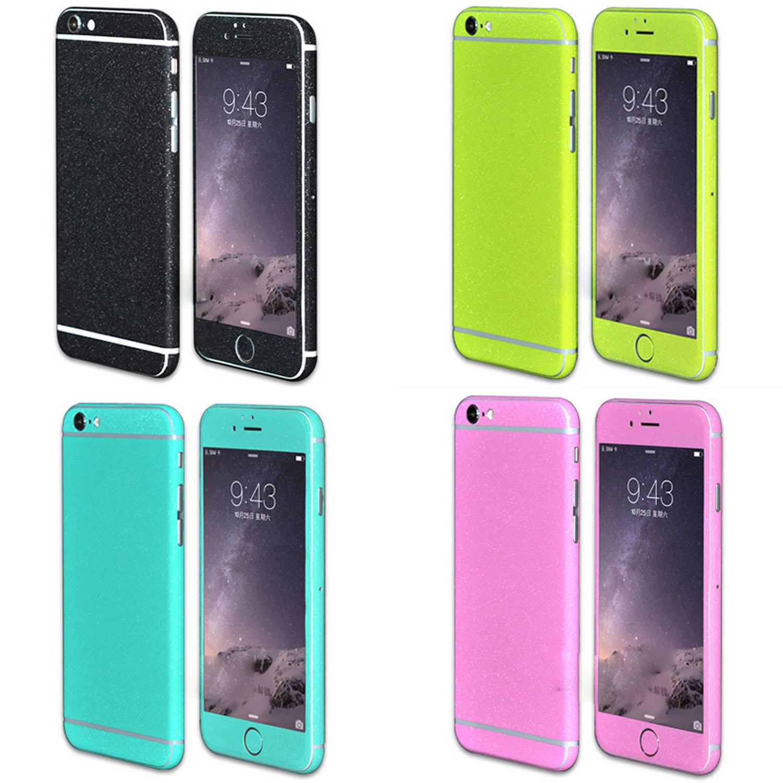 Besegad Ultra-delgado cuerpo completo mate Glitter película cubierta de la piel para iPhone 6 S 6 S Plus iphone6 iphone6s 4,7 5,5 pulgadas