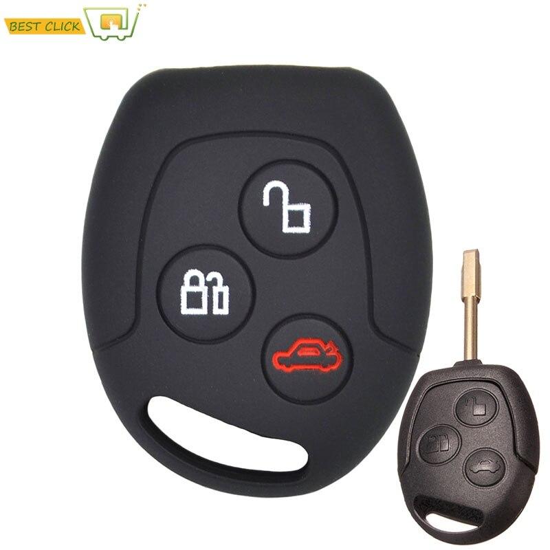 Силиконовый чехол для ключей для Ford Focus KA Galaxy Mondeo Transit Connect Cougar Пума Fushion Keyless Fob Shell