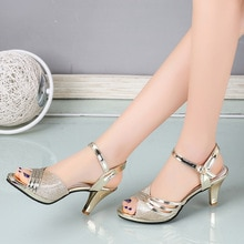 2021 Summer Shoes Women Sandals Woman Dress Shoes Bling Weddging Shoes Silver High Heels Pumps Ladie