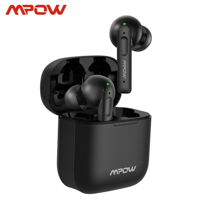 Mpow X3 Bluetooth 5,0 настоящие Беспроводные наушники с активным шумоподавлением Наушники 27h воспроизведение в ухо гарнитура с микрофоном для iPhone SE