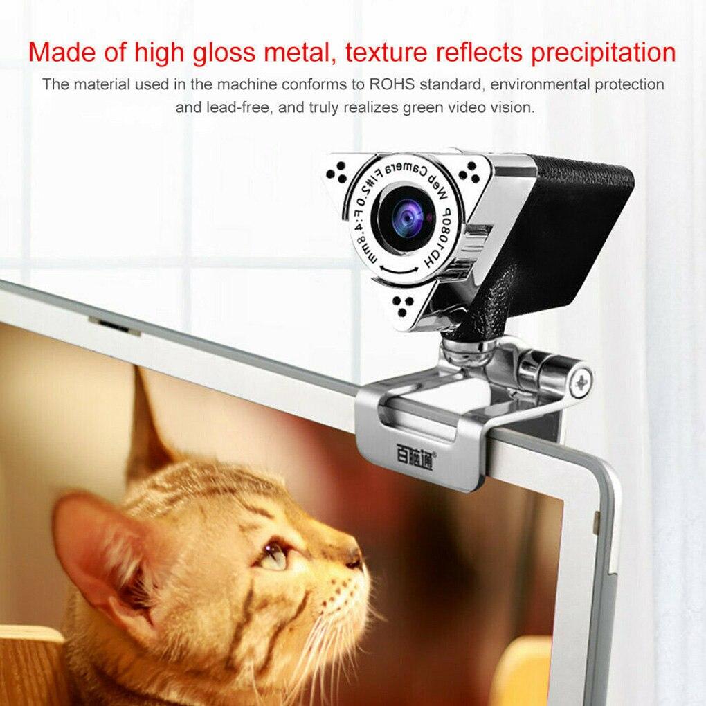 Webcam 1920*1080 HD Computer Web Cam For Laptop Desktop Smart TV USB Plug and Play Low-light Gain 1080P Web Camera With MIC