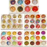 12grids glitter mold filling tools soft clay sequins abs beads filler diy epoxy resin mold accessories nail art decorate tools