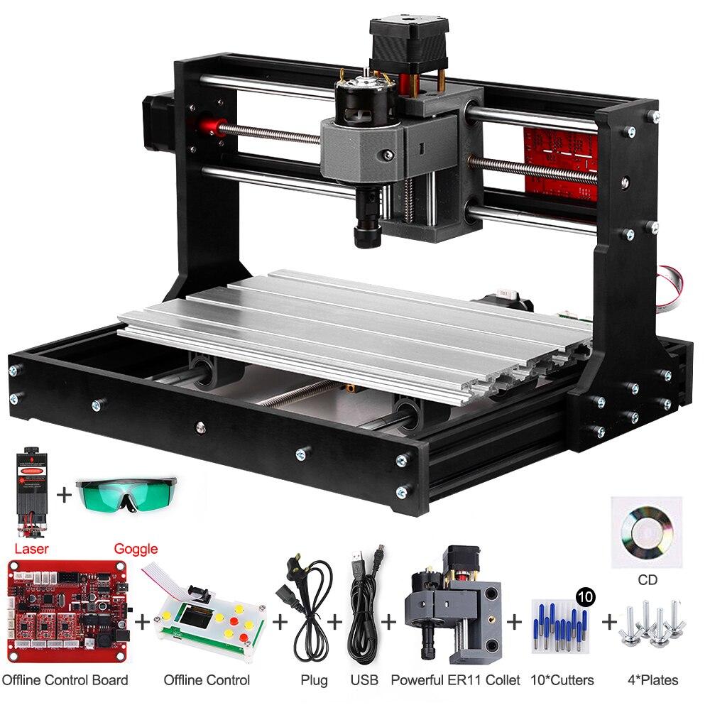 Máquina de gravura do cnc do cortador do laser do cnc do gravador do laser de madeira impressora a laser diy 3 eixos máquina de trituração do pwb