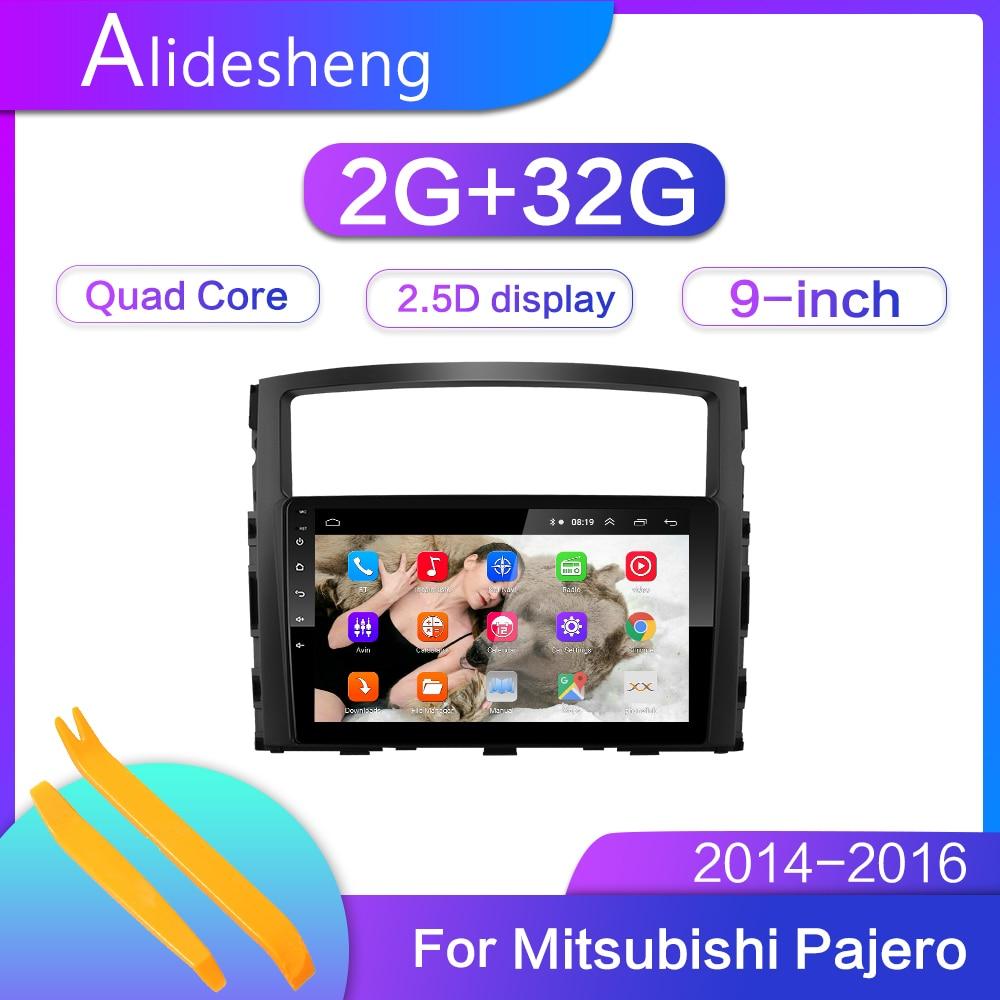 2.5D 2Din Android 8.1GO car dvd Multimedia player GPS for Mitsubishi Pajero V97 2006-2014 Radio navigation Radio BT WiFi