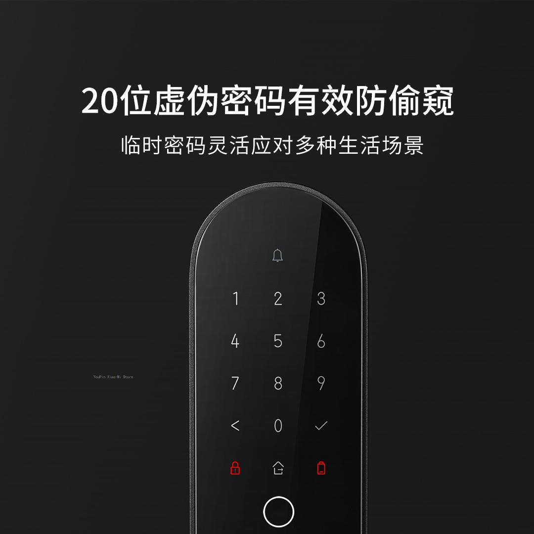 Aqara N100 Smart Door Lock Fingerprint Bluetooth Password Unlock Works For Apple HomeKit Smart Linkage With Doorbell