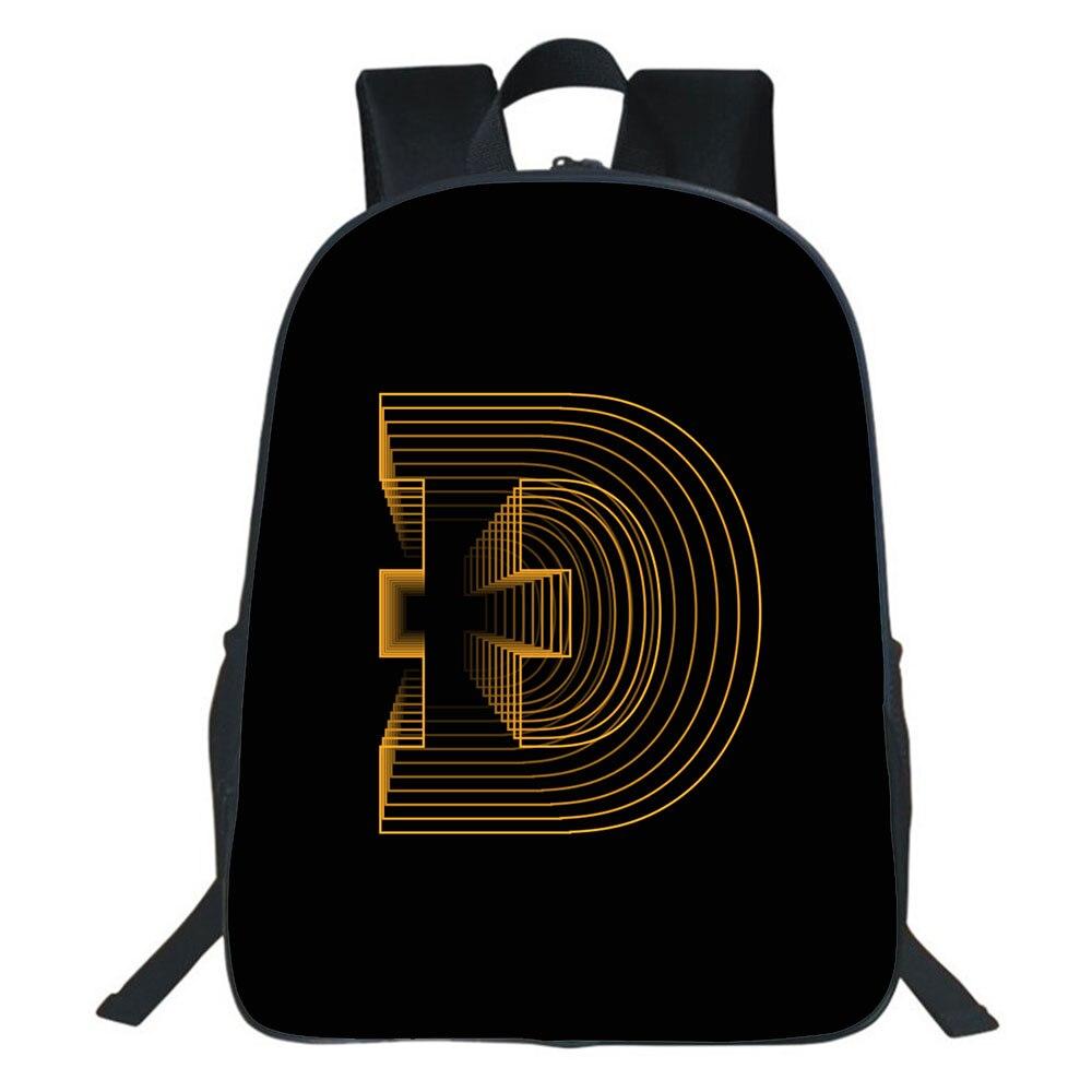 Модный Дорожный рюкзак Dogecoin в стиле хип-хоп, школьная сумка для мальчиков и девочек, Молодежные Повседневные детские рюкзаки
