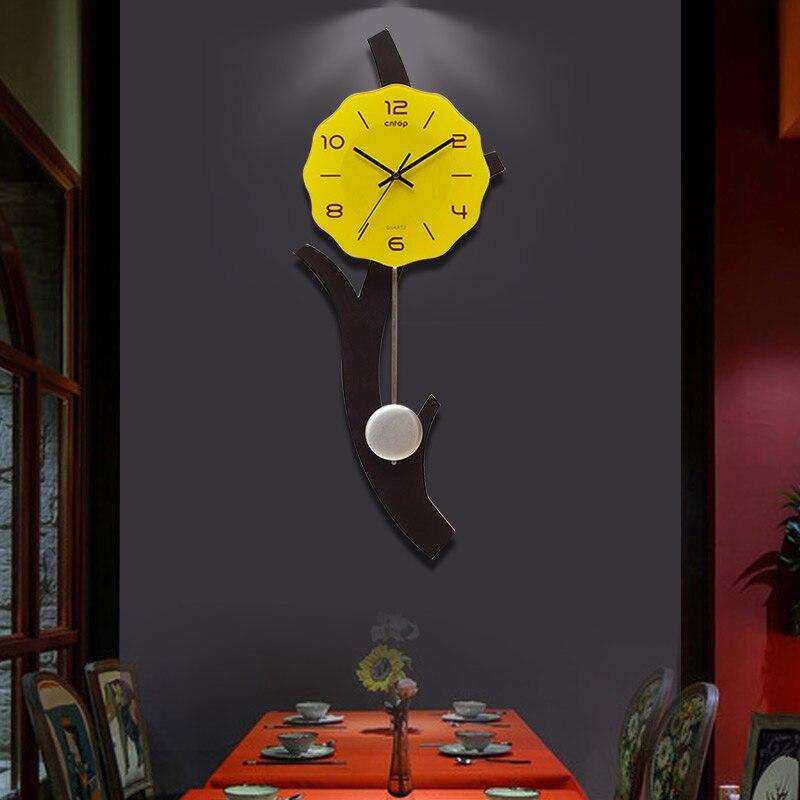Nordique salon horloge murale muet Art horloge créative Simple moderne chambre horloge personnalité horloge Design moderne DD6WC