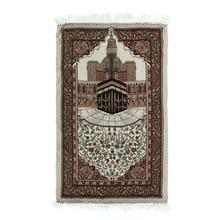 110x65cm tapis de prière lumière couverture couverture famille broderie islamique musulman cadeau gland décoration tapisserie tapis chambre