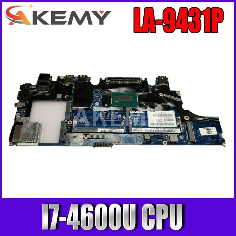 Akemy CN-0X9Y17 0X9Y17 VAZ50 LA-9431P اللوحة الرئيسية لديل خط العرض E7240 اللوحة المحمول I7-4600U وحدة المعالجة المركزية