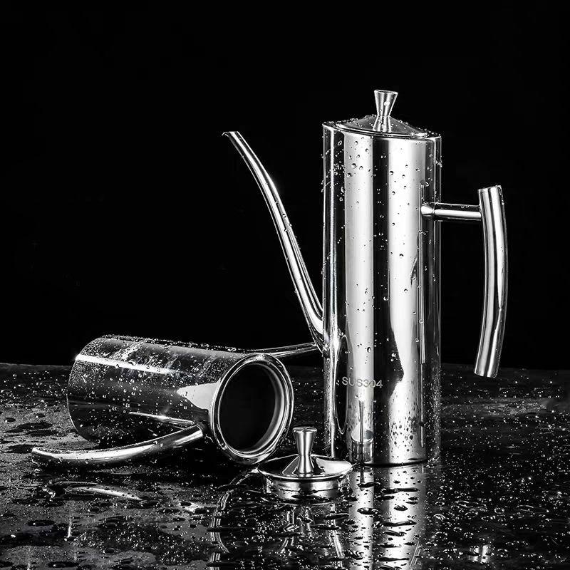 Staub-proof Stahl Öl 304 Edelstahl Topf und dicht Öl Topf Öl Topf 500 ml 700 ml 1000 ml