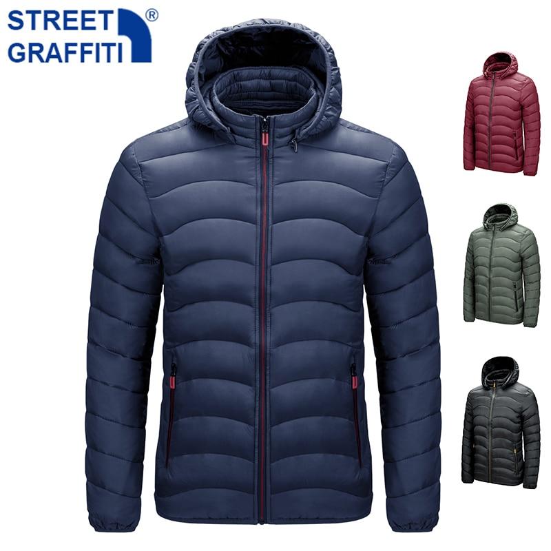 Men 2021 Winter Brand Warm Waterproof Thick Jacket Parkas Coat Men New Autumn Windproof Detachable hat Slim Parkas Jacket Men