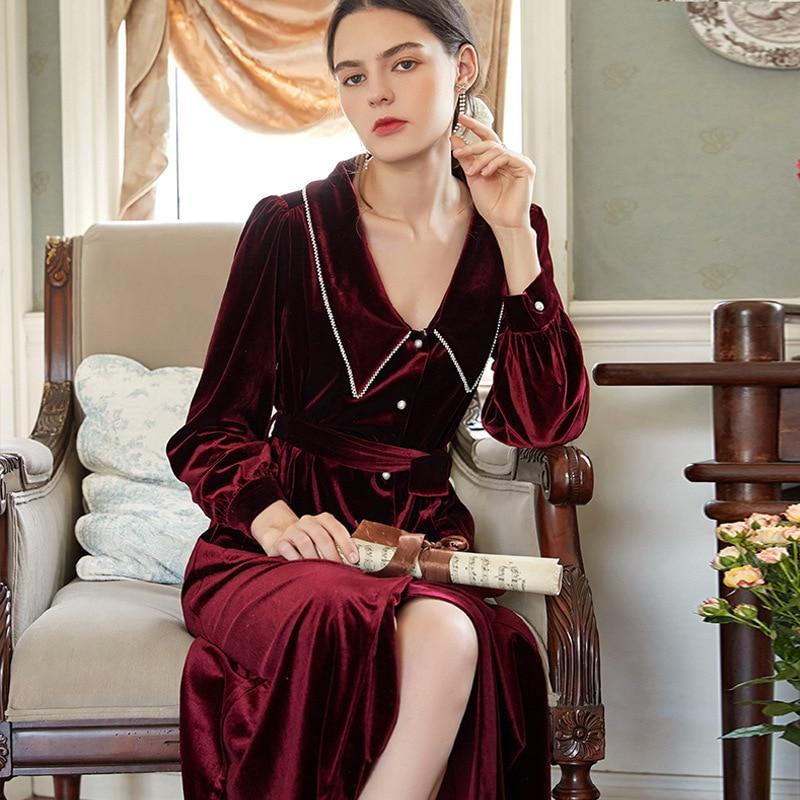 الشتاء رداء للنساء رومانسية ثوب للنساء مساء أثواب للنساء