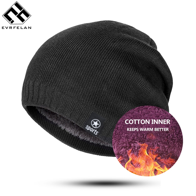 Hot Beanie Winter Hats & Caps Women Knitted Wool Cap Men Casual Unisex Solid Color Hip-Hop Skullies Beanies Warm Hat Bonnet Male