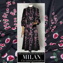 Pastoralen Positionierung Blume Handgemachte DIY Kleid Seide Crepe De Chine Stoff Anti-Falten und Haut-Freundliche Maulbeerseide