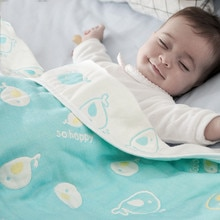 Mantas de muselina para bebé, edredón suave de algodón de 6 capas, toalla envolvente para recién nacido, 110x110cm