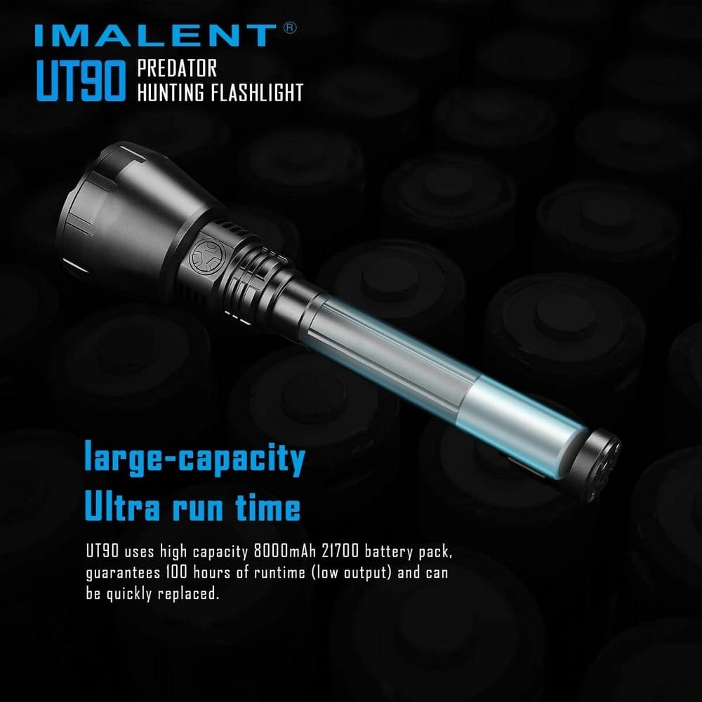 4800LM Super Bright USB Flashlight IMALENT UT90 Waterproof Flashlight 4 Level Lighting Mode Outdoor Camping with 21700 Lithium enlarge