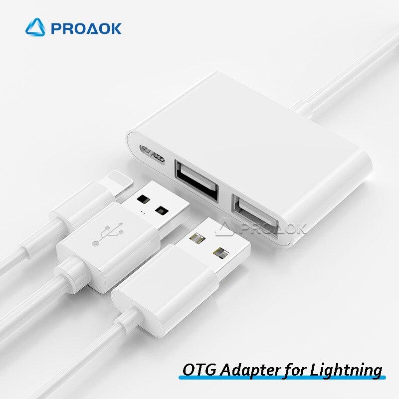 Adaptador OTG para Lightning a USB para iPhone, accesorios para teléfonos móviles,...
