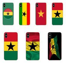 Cubierta de piel de silicona Ghana bandera nacional para Huawei Honor Mate 7 7A 8 9 10 20 V8 V9 V10 V30 P40 G Lite jugar Mini Pro P inteligente