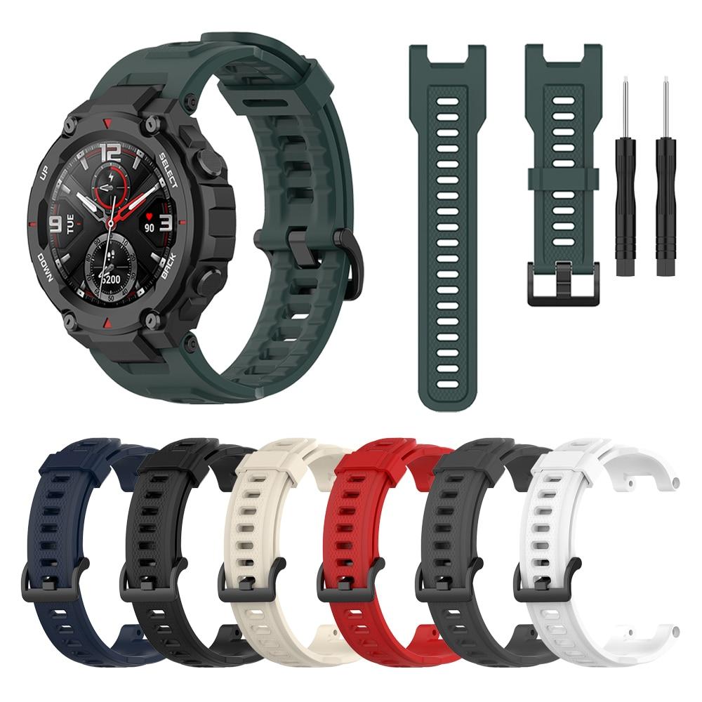 умные часы amazfit t rex smart watch standart eu зеленый камуфляж а1919 Silicone Strap for Amazfit T-REX Smart watch Replaceable accessories watchband for Xiaomi Huami Amazfit T rex Bracelet Correa