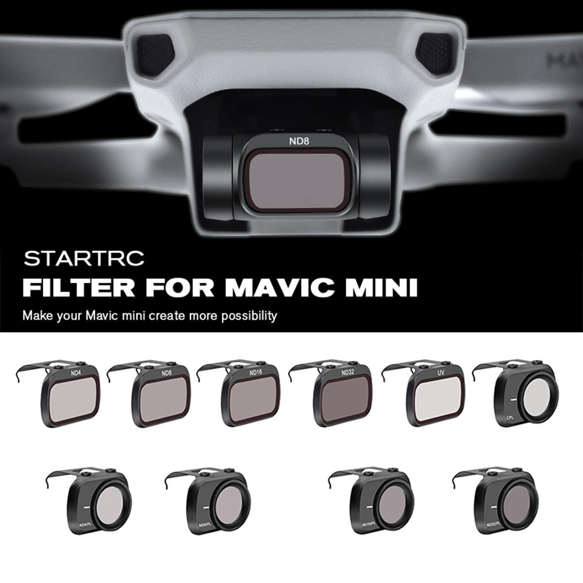 Startrc mavic mini lente nd4/nd8/nd16/nd32/mcuv/cpl conjunto filtro para mavic mini drone lente nd8 nd16 nd32 nd64 pl acessórios kit
