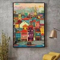 Toile de peinture murale abstraite nordique  couleur de maison  affiche dart Mural  decor de maison  salon  peinture et impression murale a la mode