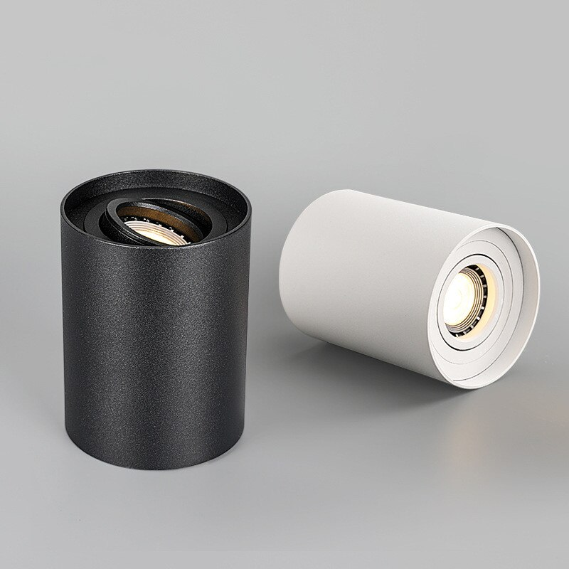 Montado en la superficie regulable luz de techo LED Downlight + reemplazable GU10 LED Bombilla 9W 12W 15W AC110V 220V foco de techo de LED