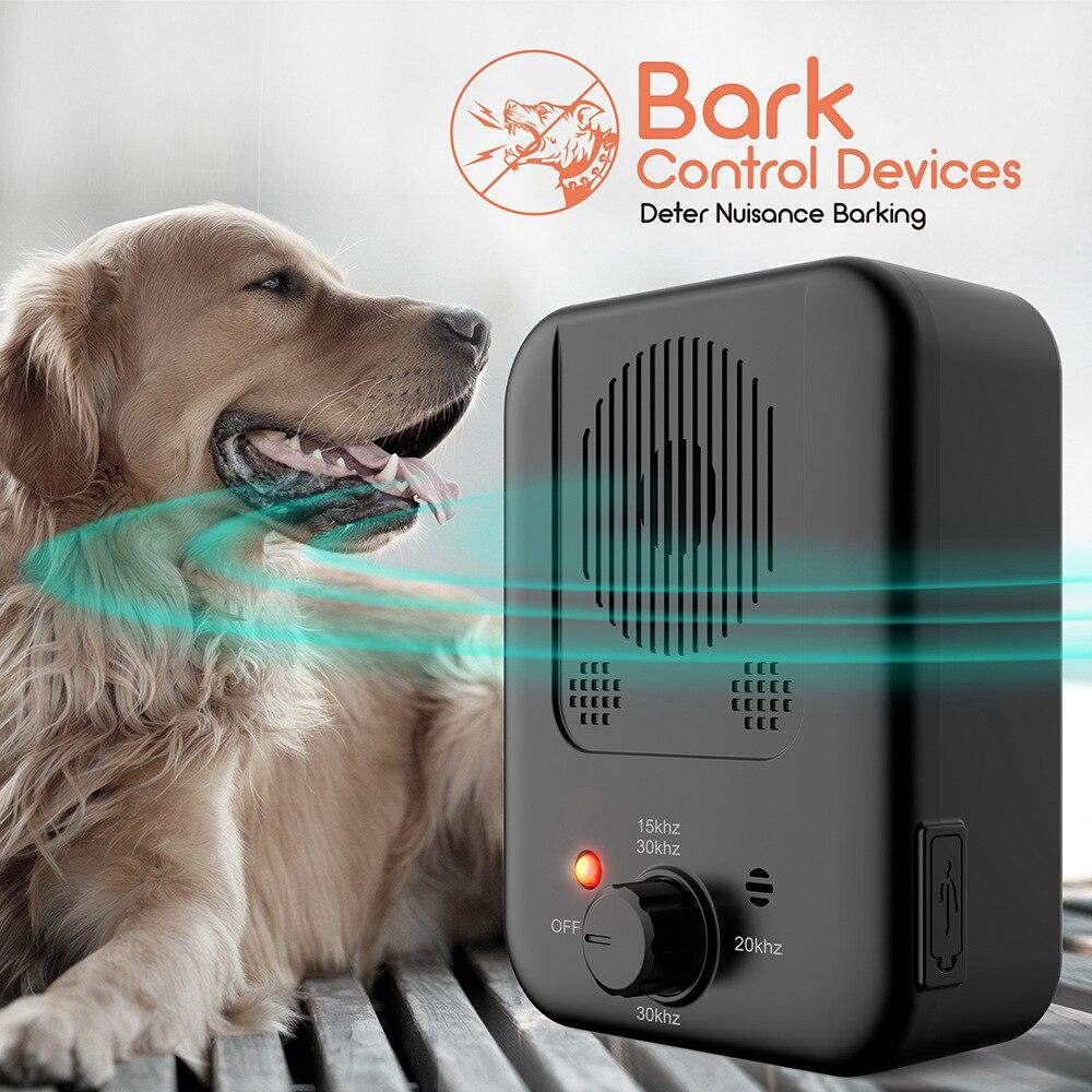 Pet Dog Repeller Ultrasonic Bark Suppressor Outdoor Dog Repeller Anti-Noise Anti-Barking Dog Training Device Sonic Silencer Tool