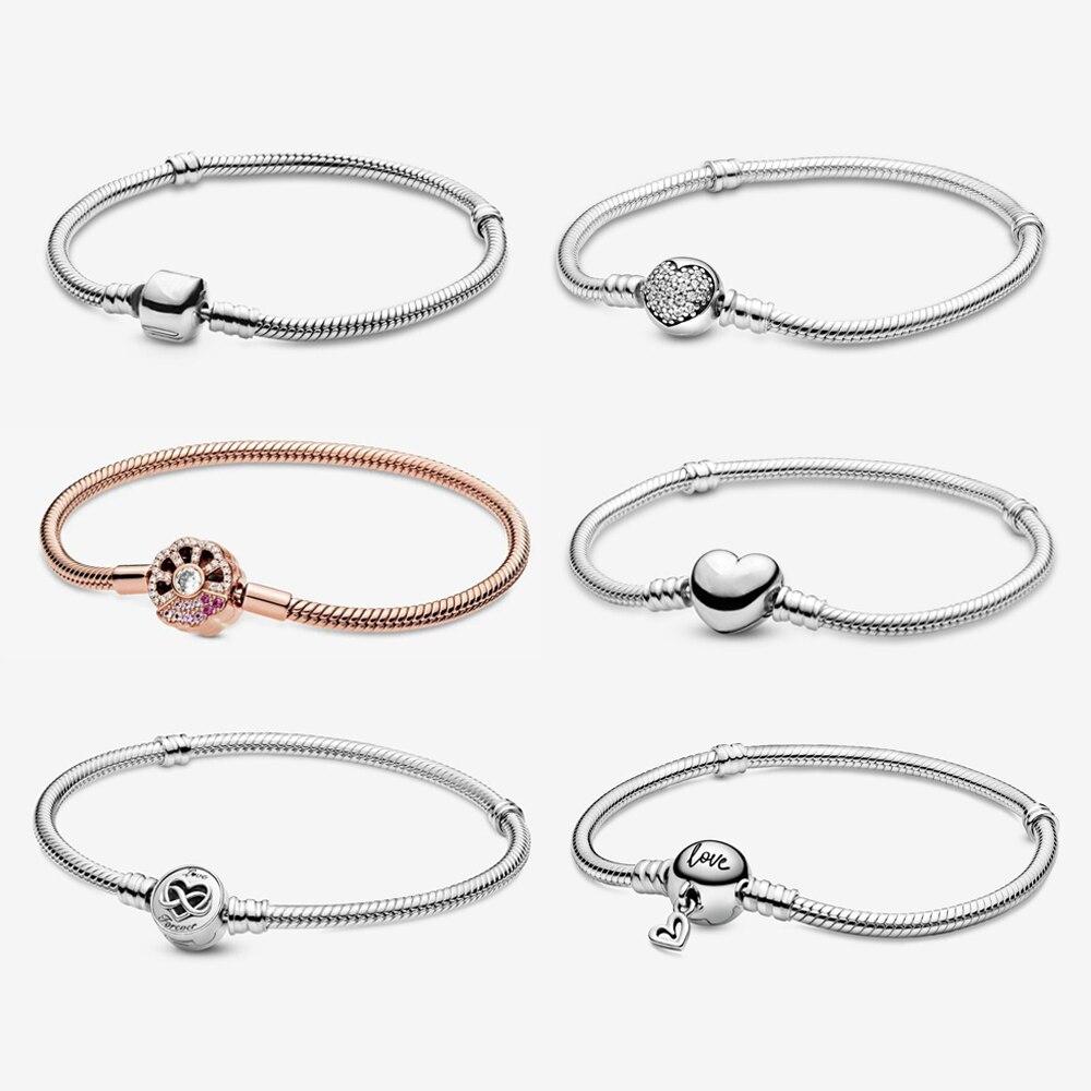 Оригинальный-браслет-из-стерлингового-серебра-925-пробы-змея-цепочка-бочка-сердце-застежка-розовое-золото-раньше-браслеты-браслеты-ро