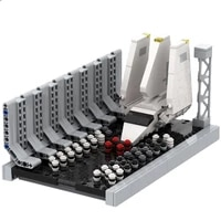 space series wars mini docking bay spaceship shuttle model building blocks moc bricks educational kids assembly toys xmas gifts