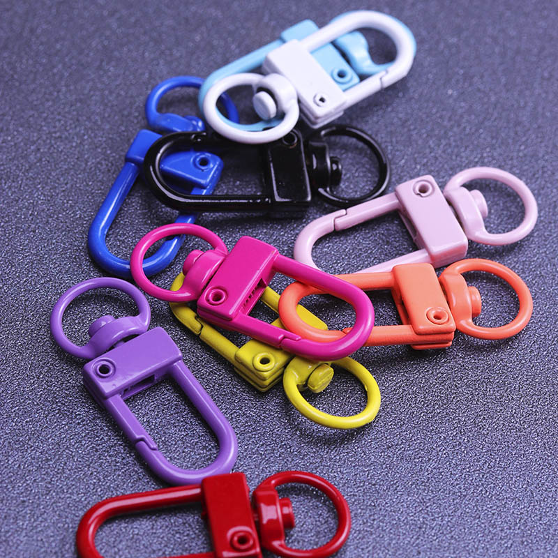 1 34x13mm Lobster Clasps Paint Keychain Key Hook Split Ring Clasps Connectors for jewelry Findings Making DIY Keychain  - buy with discount