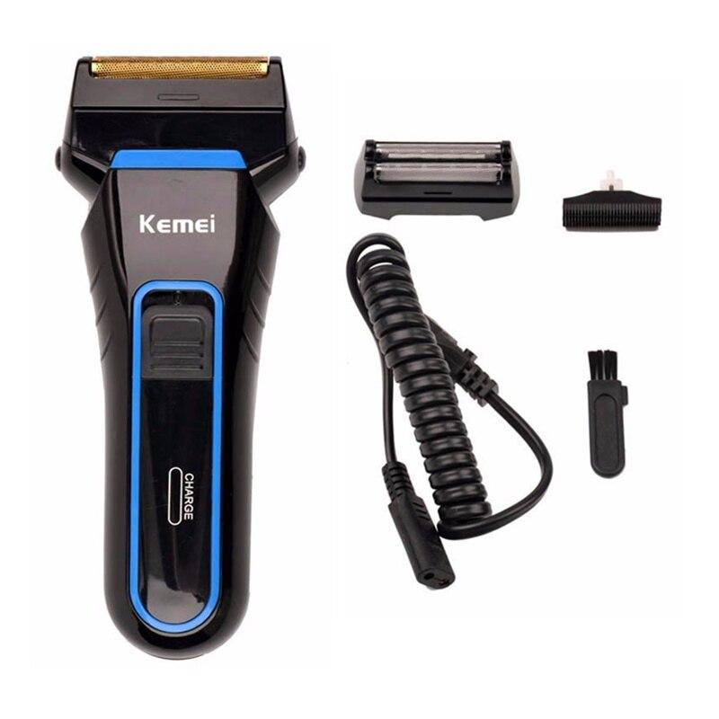 100 240v barbeador eletrico reciprocating dupla lamina de barbear barbeiro dos homens
