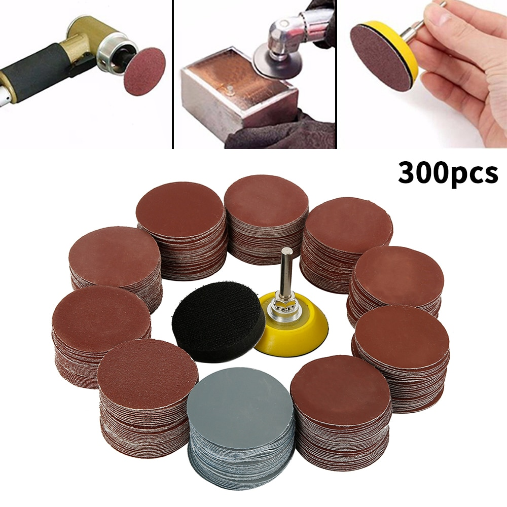 300 pezzi 80/180/240/320/800/3000 set di dischi abrasivi grana 2 - Utensili abrasivi - Fotografia 2
