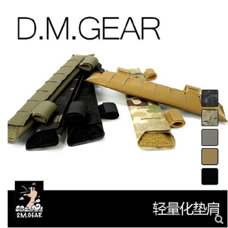 DM gear, almohadilla de hombro de corte láser, chaleco táctico, hombrera
