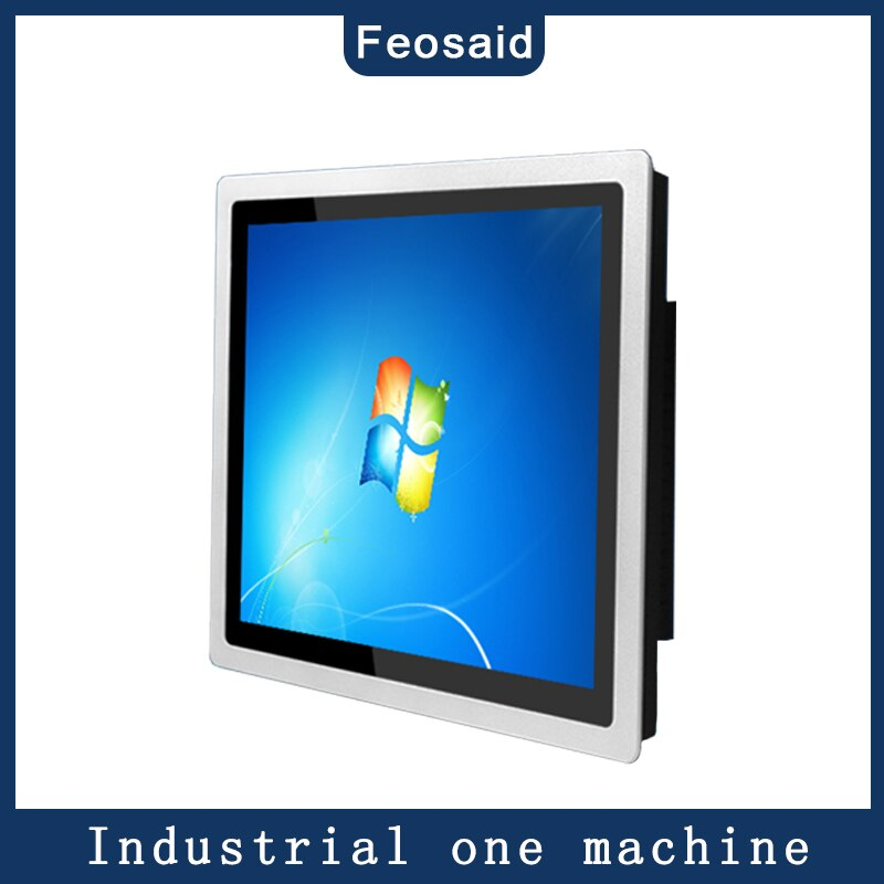 19 inch industrial computer 4G memory 32G SSD core i5/i7 with waterproof screen embedded capacitive touch all in one pc